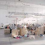 Chinese textile workshop seized from Prato Municipal Police.