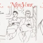 New York Magazine's 50th anniversary issue cover / Drawings by Alex Katz, Courtesy of Timothy Taylor Gallery