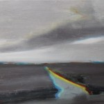 Massimiliano Alioto Ghost town olio  su tela cm 70x60 2017
