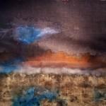 TTozoi, TERRE  SENESI, tecnica mista su tela di juta e muffa, cm 190X180, 2013