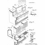 Anna Keichline, Patent for 'Kitchen Construction, 1926