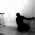 Dado realizza la sua tag a parete per Tutti nudi, foto Giovanni Avolio