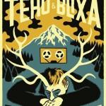Manifesto per il concerto di Blixa Bargeld e Teho Teardo al Mocvara 2017_serigrafia a 3 colori