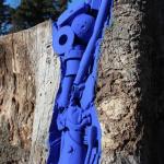 CATERINA TOSONI, Linfa Plastica Blu, legno, materiale plastico e colore acrilico, 2018