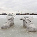 Sigalit  Landau  (1969)  Salted  Lake  (salt  Crystal  Shoes  on  a  frozen  Lake),  2011