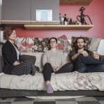 ©Dario Bosio DARST_Cassandra, Greta e Erik, studenti momentaneamente residenti nel social housing Luoghicomuni Sansalvario, Torino, 2018