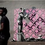 Paris-plusieurs-oeuvres-attribuees-a-Banksy-decouvertes, Philippe LOPEZ / AFP