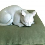Monet's cat, bought at Christie's Hong Kong, is now back on his cushion in Giverny, Martin Bailey