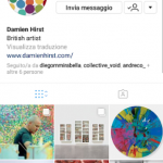 Instagram page Damien Hirst