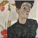 Egon Schiele, Autoritratto con alchechengi