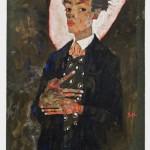Egon Shiele, Autoritratto in piedi con panciotto di pavone