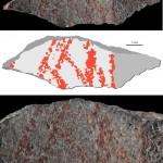 Grotta di Blombos, dipinto analisi