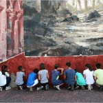 Borondo, workshop school, Mites terram possident, Malegno, foto di Borondo