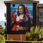 OZMO, Pixelated Mona Lisa with destructurated Donald Duck in Valle Camonica, Angone, foto di Davide Bassanesi
