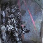 20) Ennio Calabria - Questa lunga notte. Il branco - 2018, acrilico su tela, cm. 200x150