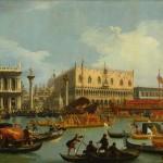 Canaletto, Il ritorno del Bucintoro al molo davanti al Palazzo Ducale