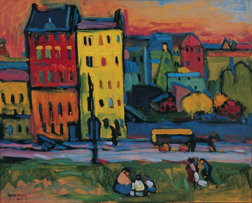 Vassilj Kandinskij, Case a Monaco © Von der Heydt / Museum Wuppertal - Photo: Antje Zeis-Loi, Medienzentrum Wuppertal