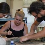 MCZ Francesco Simenti at work at Museo Carlo Zauli summer 2018 ph Nina Bovio