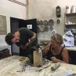 MCZ Francesco Simeti and Aida Bertozzi at work at Museo Carlo Zauli summer 2018 ph Kari Popova