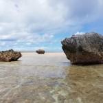 Tokia, Rabua, Kamataoa tre rocce mandate dal dio Barantou per distruggere l'isola di Makin, Kiribaticourtesy Antonio Fiorentino