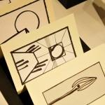 Venia Dimitrakopoulou_Labirinto_2012_dettaglio_inchiostro e collage su carta_testi originali dell'artista