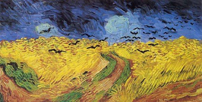 Campo di grano con volo di corvi, Vincent Van Gogh