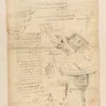 Leonardo da Vinci_Foglio del Codice Atlantico_Biblioteca Ambrosiana