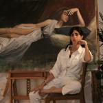 Malù Della Piccola nel suo studio