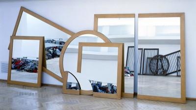 Michelangelo Pistoletto, Il disegno nello specchio, 1979. Foto Archivio Pistoletto