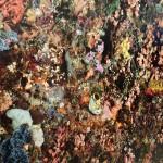 Edward Burtynsky, Barriera corallina di Pengah N.1, Komodo National Park, Indonesia, murales ad alta risoluzione, dettaglio © Edward Burtynsky, courtesy Admira Photography, Milan / Nicholas Metivier Gallery, Toronto