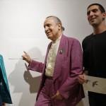 Luigi Ontani, con Andrea Lo Giudice e Giulia Giambrone. Foto Francesco Talarico