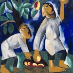 Natalia Goncharova Peasants Picking Apples 1911,