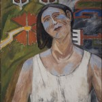 Portrait of Natalia Goncharova 1907.