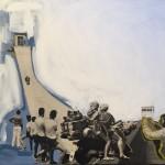 Daniela Di Lullo - Altrove - Collage  e acrilico su tela - 2019 - 40X50