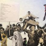 Daniela Di Lullo - Ascoltate - Collage e acrilico su tela - 2019 - 40X50