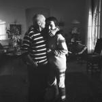 Picasso and Jacqueline. Mas Notre-Dame-de-Vie, Mougins, 14.2.1962.