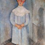 Bambina in abito azzurro. Collezione Netter