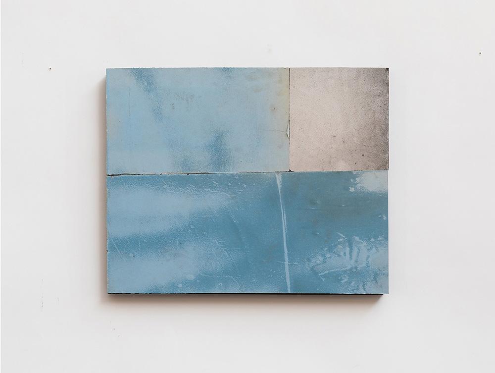 Flavio Favelli, Venezia 77, 2019, specchi graffiati montati su pannello di legno, cm. 40x50. Courtesy Studio SALES di Norberto Ruggeri