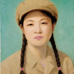 QI Zhilong, Untitled (portrait of a girl green). Courtesy Sigg collection