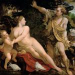 Annibale Carracci and studio Venus and Adonis,17 secolo,Kunsthistorisches Museum Vienna