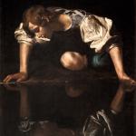 Caravaggio, Narcissus,Romec. 1600.Palazzo Barberini. FotoGallerie Nazionali d'Arte Antica-Biblioteca Hertziana