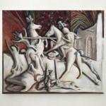Giovanni Copelli, Battaglia. Olio su lino, 50x60cm, 2020. Courtesy Operativa, Roma