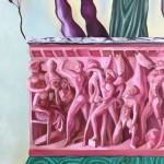Giovanni Copelli, Munumento Equestre (particolare). Olio su lino, 200x140cm, 2019-2020. Courtesy Operativa, Roma