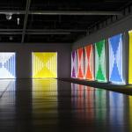 "Vedute d'installazione Photo-souvenir: Daniel Buren, ""Fibres optiques tissées"" Gwangju Design Biennale, Gwangju, Corea del Sud, luglio-ottobre 2019 Dettaglio © Daniel Buren by SIAE 2020"