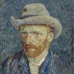 Van Gogh, Autoritratto con cappello di feltro, 1887