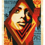 1. Shepard Fairey, Bias By Numbers, 2019, Silkscreen and mixed media collage on paper HPM, 76 x 104 LR