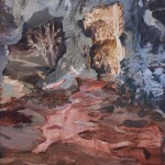 Grotta, 29x21cm, olio su carta, 2020