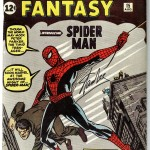 amazing fantasy 15 firmato Stan Lee, prima apparizione di Spider-Man in USA