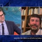 Dario Franceschini in collegamento da Fabio Fazio