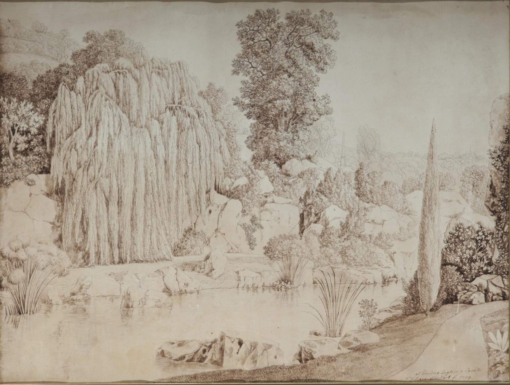 Il giardino inglese a Caserta, 1794